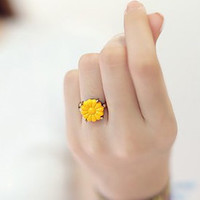 Gift Jewelry New Arrival Shiny Stylish Korean Floral Ring [6586204167]