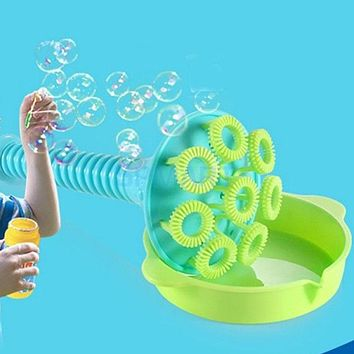 4 Pieces Plastic Bubble Blower Toy Handheld Bubble Making Tools Set Kids Childhood Outdoor Activities Play Fun Games