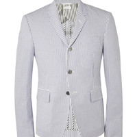 Thom Browne - Slim-Fit Cotton-Seersucker Blazer | MR PORTER