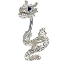 Body Candy Stainless Steel Black Accent Detailed Dragon Belly Ring