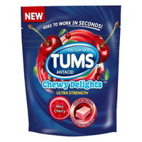 Tums Ultra Strength Chewy Delights Soft Chews, Smooth Peppermint - 12 Ea, 6 Pack
