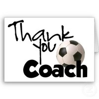 Thank You Coach, Soccer Cards from Zazzle.com
