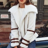 Faux Sheep Moto Jacket
