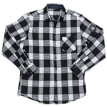 Merit Flannel - Black/White