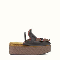 FENDI | WAVES MULES in green embroidered nubuck