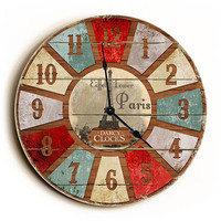 Eiffel Tower French Style Unique Wall Clock by Dickery Dock