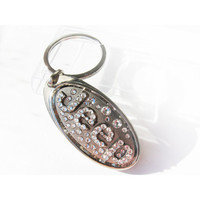 BLING JEEP Keychain with crystals sleutelhanger Jeep emblem Jeep key ring Jeep key chain Jeep key ring Jeep keyring