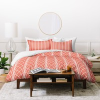 Heather Dutton Arcada Persimmon Duvet Cover