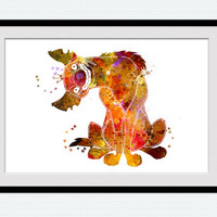 Lion king decor Disney watercolor poster Disney art print Lion king poster Shenzi hyena print Home decoration Kids room wall decor W445