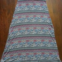 American Rag Cie Skirt Multi Color Print Maxi Stretch Womens Sz M Boho Hippie