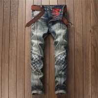 Stylish Ripped Holes Club Men's Fashion Pants Jeans [10766086851]