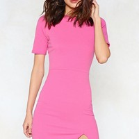 Slit Down Bodycon Dress