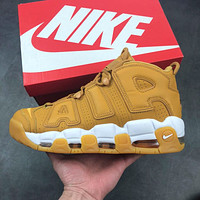"Nike Air More Uptempo ""AIR"" Wheat Basketball Shoe 36--45"