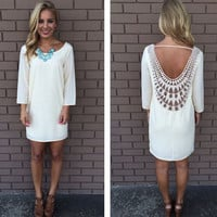 Womens Lace Backless Dress Gift 38