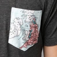 World grey Pocket T Shirt