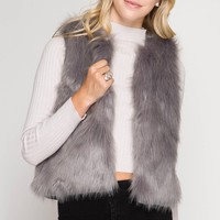 Faux Fur Short Vest