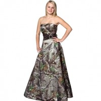 Homecoming & Prom Dress :: Realtree Camo Gown with Sash - The RealStore at Realtree.com
