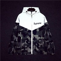 Camouflage Unisex Lighting Windbreaker