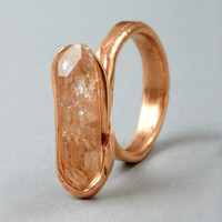 Couverture and The Garbstore - Womens - Andy Lifschutz - Style 1 Rose Silver and Crystal Quartz Ring