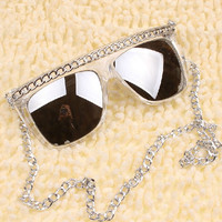 Sunglasses with Chain C8420
