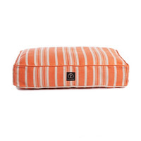 Classic Stripe Rectangle Dog Bed | Orange