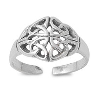 Wicca Triquetra Knuckle/Toe Ring Sterling Silver 925
