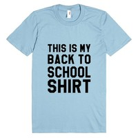 This is My Back to School T-Shirt