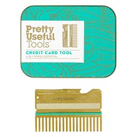6-in-1 Credit Card Tool in Brushed Gold Stainless Steel with Gift Box