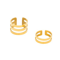 Gold Double Stack Ring Set