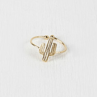 Open Band Cactus Ring