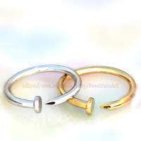 nail ring/Smart and  decent ring/ Simple Life fashion ring