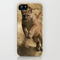 Puma Jumping iPhone & iPod Case by Sean Foreman