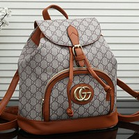 GUCCI GG Mens and Womens Double G Backpack Shoulder Bag-2