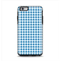 The Blue and White Woven Plaid Pattern Apple iPhone 6 Plus Otterbox Symmetry Case Skin Set