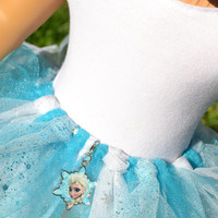 American Girl Doll Clothes, 18 in Doll Clothes- Frozen Ballet leotard & tutu