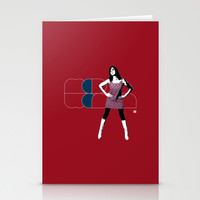 Mod Woman Stationery Cards by Matt Irving