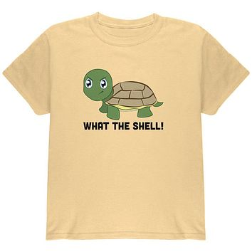 Turtle What The Shell Funny Pun Cute Youth T Shirt