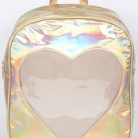 I Love You Holographic Mini Backpack (3 Colors)