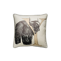 Linen with Letter Y Print Cushion | Andrew Martin Animal Alphabet Y