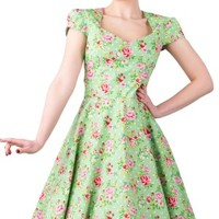 Lady V London | Apple Green Victory Swing Dress - Buy Online Australia Tragic Beautiful