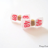 French Vintage Bow Earrings  Made from by VintageOoakDesigns