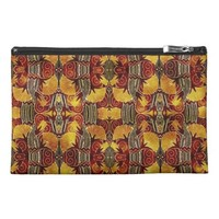 In Flames - Art Deco Pattern Travel Accessory Bags
