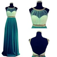 PrettyDresses Women's Long Backless Evening Bridesmaid Prom Party Dresses