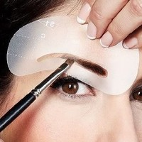 4pcs Eyebrow Shaping Stencil Eye Brow Grooming Template Makeup Tool C1-C4 AOSTEK(TM)