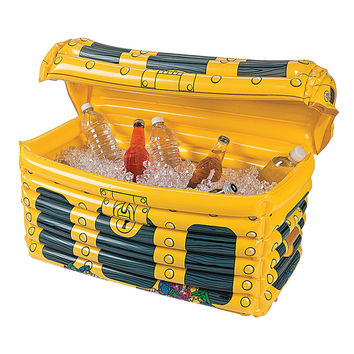 33*43*50cm Inflatable Treasure Chest Drinks Cooler Ice Bucket Toys Summer Beach Decorations