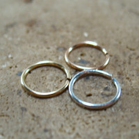 Nose Ring Set of 3 Endless Gold/Silver/Pink Gold
