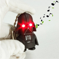 Baby Toy Star Wars Black Knight Darth Vader Stormtrooper LED Sound PVC Action Figures Toy kids children present Anakin Skywalker