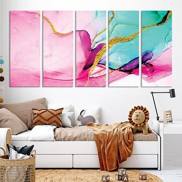 Abstract Fluid Large Wall Art Marble Canvas Print