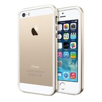 ZLYC Scratch-Resistant Slim Rubber Case iPhone 5/5S Aluminum Champagne Gold
