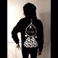 Lsp lumpy space princess hoodie unisex black with white print. Pull over